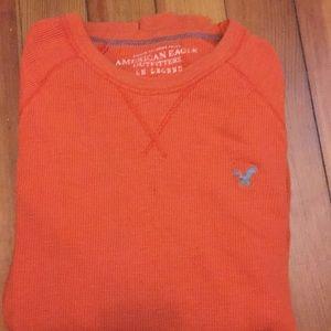 AE Orange waffle long sleeve